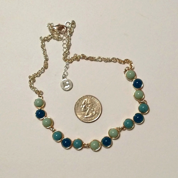 LC blue & green necklace